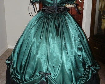 Civil War Reenactment Ladies, Plus or Juniors Ball Gown Sizes, Styles and Colors available 5 Yard Skirt