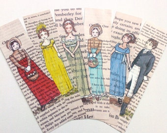 Jane Austen Bookmarks - Set of 6