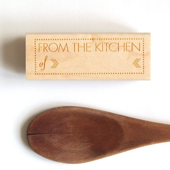 From The Kitchen Of Rubber Stamp Wood By Hunterandcodesigns