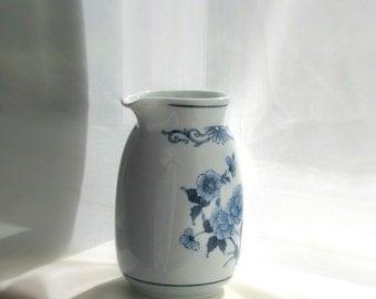 Noritake China Creamer Blue Sometsuke B352W17 Versitone Orient Vintage Porcelain