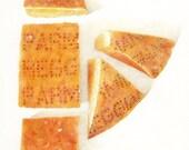 Parmesiano Reggiano Cheese PRINT / Parmesan Cheese Drawing / Cheese Art / Kitchen Art / Food Art Print