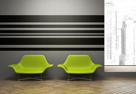 Stripe Wall Decal, Horizontal Wall Art, Horizontal Striped, Geometric Wall  Decor, Modern