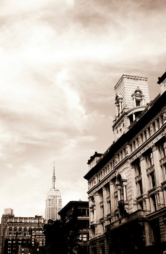 Empire State Building From the West side Photography Print, New York City Photo, NYC Wall Art