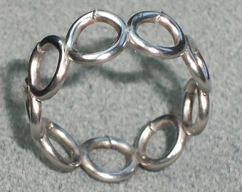 """Wicked Strong Chainmail """"Ring Mail"""" Welded Size 5 1/2 Very Strong"""