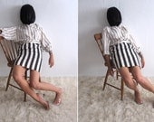 VTG 80s Striped Oxford Style Blouse