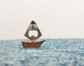 Stormy Seas . . .Vintage Teak Sailboat Bottle Opener - Mid Century