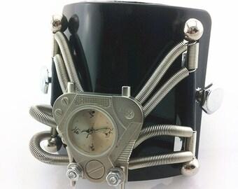 Hi-Tek Alexander  Handmade Steampunk retro futuristic  watch
