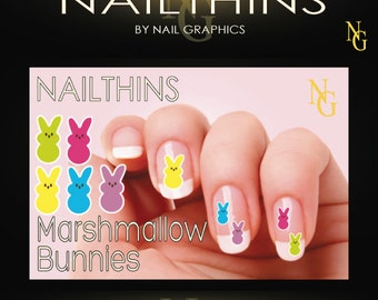 Bunny Nail Decals Easter nail decals by NAILTHINS