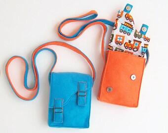 Children BRIGHT Messenger Bag Purse pattern for Boys and Girls - Pdf sewing pattern - Shoulder Bag, ebook tutorial, children toddler