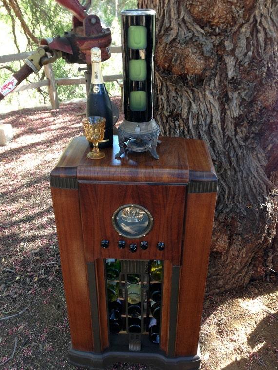 Antique Radio Wine Liquor Bar Led Showcase 1940 S By