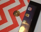 Coral Chevron Stripes Padded iPad Sleeve --  Trendy Zig Zags & Linen