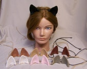 polymer clay fantasy costume EARS cat dog wolf fox my little pony mlp your choice of colors