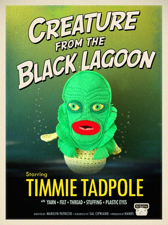 Creature from the Black Lagoon Mask for Timmie Tadpole or other small toys