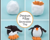Penguin & Egg Reversible Softie - PDF Sewing Pattern