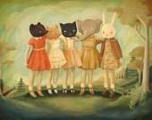 Bess, Maude, Frances, Matilda & Maryanne Print 10x8