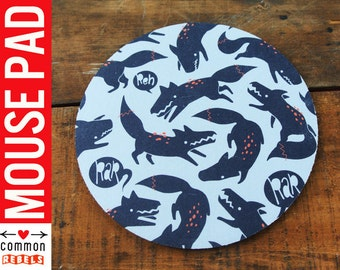 WEREWOLF dark distressed COOL mouse pad with art by Teagan White oh yeah mousepad