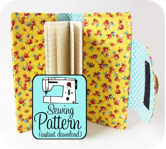 Book Cover Pattern ~ Swatch book cover pdf sewing pattern journal by