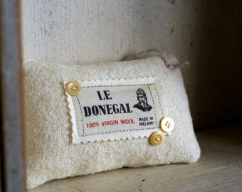 Irish Wool Felt Ornament Pincushion -- Made in Ireland
