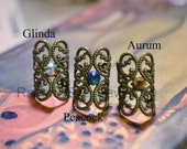 Baroque Filigree Ear Cuff  Earring Elelgant No Pierce non pierced Choose your own stone Pastel goth