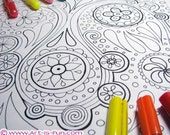 Abstract Coloring Pages PDF - 20 Printable Blank Abstract Designs to Print and Color