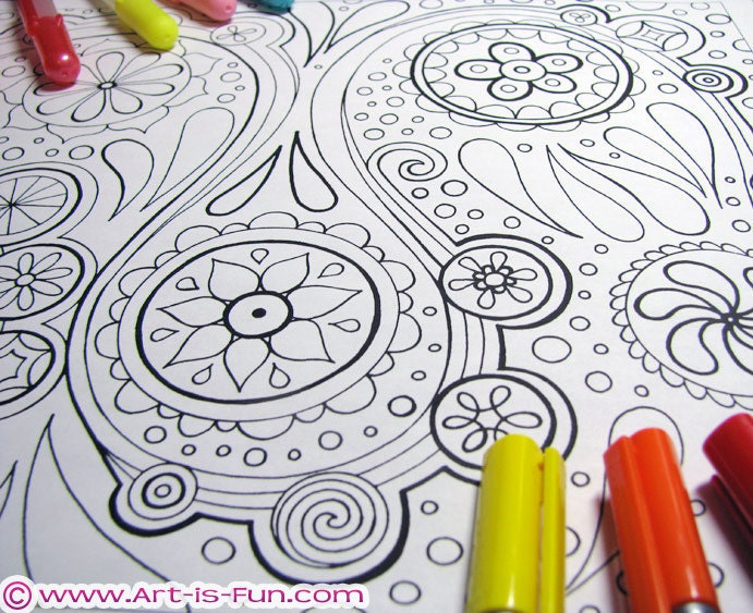 Abstract Coloring Pages PDF 20 Printable Blank Abstract