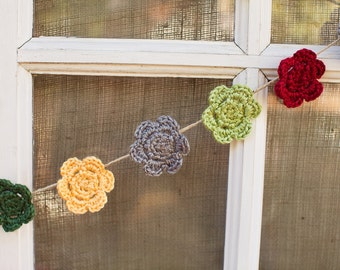 Crocheted Flower Clip - small