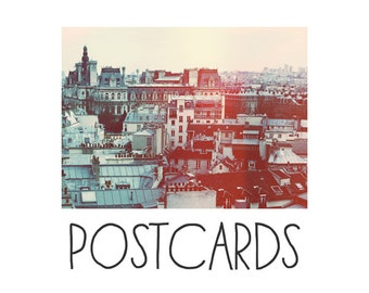 Postcards - Single Card - Blank Cards - Paris Revisited - French Photography - City - Paris Photograph