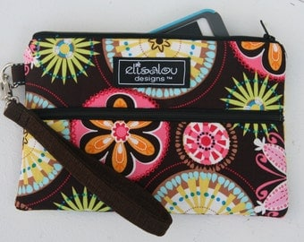 Padded Wristlet Mini Purse- Carnival