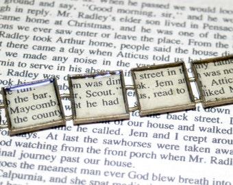 To Kill a Mockingbird Bracelet, Literary Jewelry, Book Bracelet