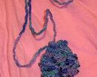 Crochet Pattern, Beaded Amulet Bag Instant Download