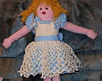 Crochet Doll Pattern, Angel Sue