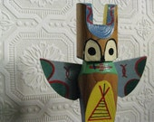 Totem Handmade by Indians Handpainted Childrens Art