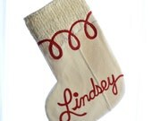Christmas Stocking - Ivory - ONE