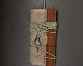 SALE - Wrapped Lone Bird - Hand printed House Decor Art