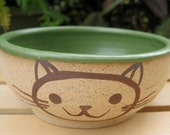 Cat Bowl in Green
