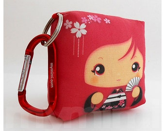 Toy Keychain, Girls Pillow, Geisha Pillow, Red Pillow, Kawaii Pillow, Kawaii Toy, Soft Toy, Kawaii Print, Japanese