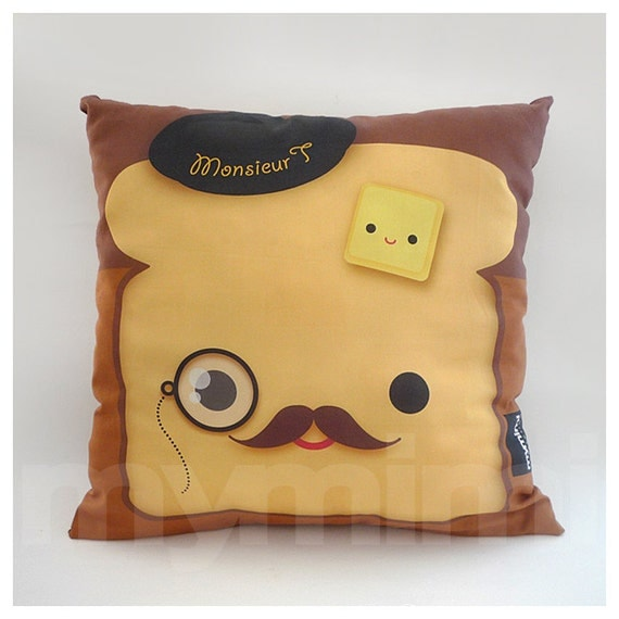 12 x 12 Decorative Pillow Toast Pillow French Toast