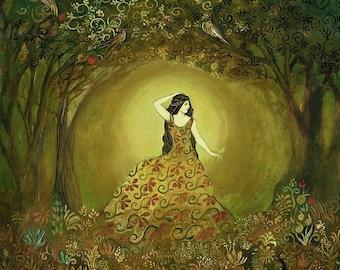 Summers Cauldron 20x24 Poster Fine Art Print Pagan Mythologogy Bohemian Art Nouveau Gypsy Goddess Art