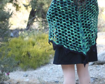 Crochet Shawl - Year of the Dragon Shawl - Imperial Jade