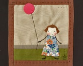 Pink Balloon....Little Quilt, mini art quilt