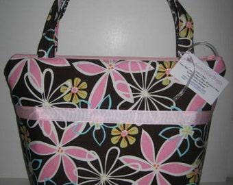Diaper Bag Tote | Large Diaperbag Handbag Purse | Michael Miller Daisy Chain
