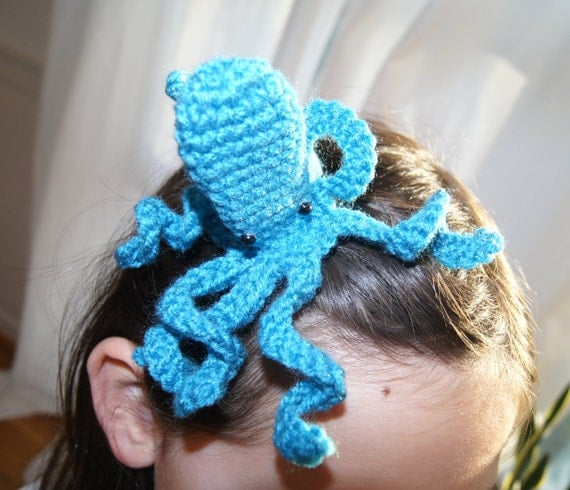 Octopus hair clip pattern