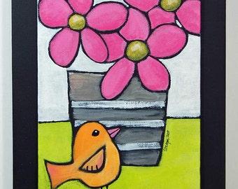 Pink Flowers - Original Painting