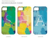 Monogram Personalized Watercolor iPhone Case for iPhone 5 4S 4 3GS 3G