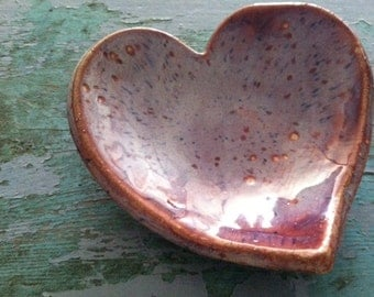 Items similar to heart shaped ceramic catch all bowl soap for Heart shaped jewelry dish