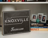 """Knoxville Art- City State Art Box- College Town Print- 11""""x 14"""" Custom State Print- University of Tennessee Graduation Gift- Knoxville Gifts"""