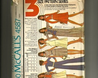 Vintage McCall's Misses' Shirt-Jacket or Shirt Top, Skirt and Pants Pattern 4587