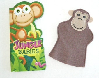 Monkey Puppet and Board Book