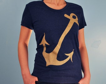 Metalic Anchor Women's Tshirt