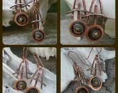 Glyph Copper Earrings